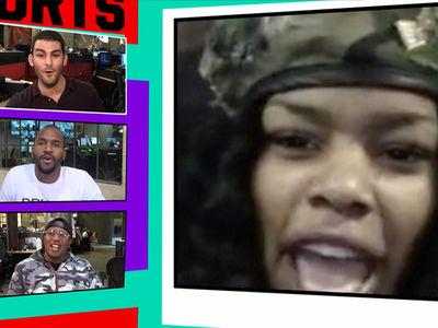Teyana Taylor -- Married NBA Husband in Biker Jackets! (VIDEO)