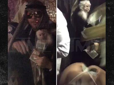 Mally Mall's Halloween -- Monkey Tricks and Strip Club Treats (VIDEO + PHOTO GALLERY)