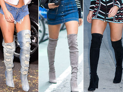 Stars In Thigh Highs -- Guess Who!