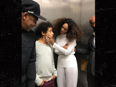 Tina Knowles -- OOPS!!! Silly Me, Posting Elevator Pic of Solange & Jay Z! (PHOTO)