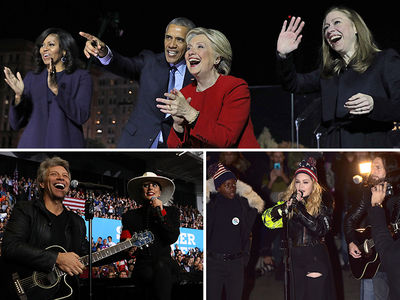 Hillary Clinton -- One Last Huge Celebrity Push (PHOTO GALLERY)