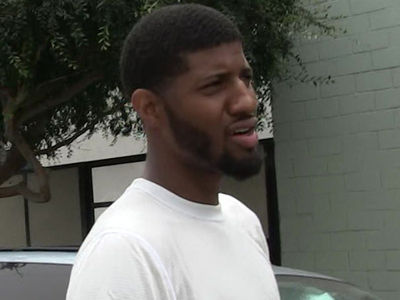 Paul George -- Sends Flowers ... Fined $15k For Hitting Fan With Ball