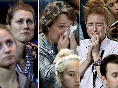 Hillary Clinton -- The Tide Turns ... Supporters So, So Sad (PHOTO GALLERY)