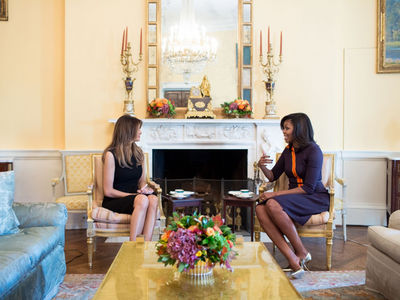 Michelle Obama & Melania Trump -- Sooo ... Nice Speech (PHOTO)