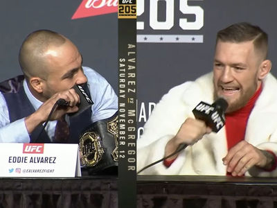 Conor McGregor -- Explodes At Press Conference ... 'Suck These Big Irish Balls!'
