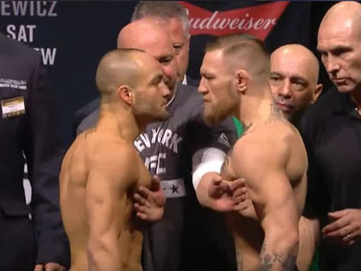 Conor McGregor -- Faces Off with Eddie Alvarez ... More Smack Talk (VIDEO)