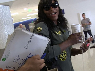 Serena Williams -- NO MORE JUNK IN MY TRUNK ... Begins No Donut Diet (VIDEO)