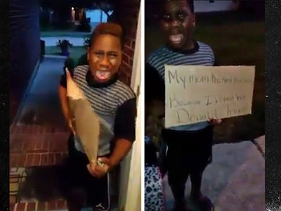 Donald Trump -- You Vote for Him, You Get Out ... Even If You Are Just a Kid! (VIDEO)