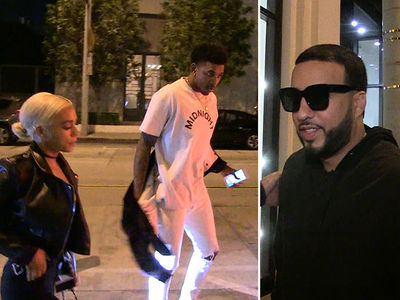 French Montana & Nick Young -- Same Restaurant, Same Night ... Is Beef On The Menu?? (VIDEO)