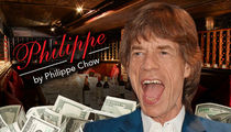 Mick Jagger -- Sympathy for the Waiter ... Orders Big, Tips Bigger