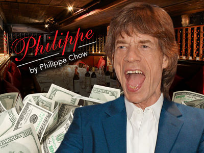 Mick Jagger -- Sympathy for the Waiter ... Orders Big, Tips Bigger