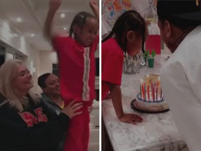 Kylie Jenner -- Ass Cupcakes for Tyga's Birthday and His Kid Partied Too (VIDEO + PHOTO)