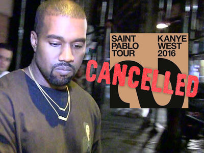 Kanye West -- Too 'Exhausted' to Continue Tour