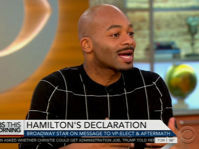 'Hamilton' Actor Brandon Dixon -- Sorry Trump, No Apology Required (VIDEO)