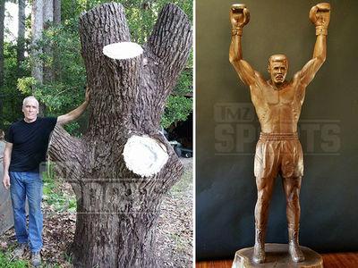 Muhammad Ali -- I AM THE GREATEST ... Tree Sculpture! (PHOTO GALLERY)