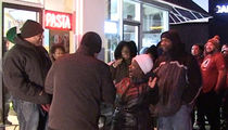 Redskins Stars -- Confronted By Cowboys Fan at Turkey Giveaway ... Hilarity Ensues (VIDEO)