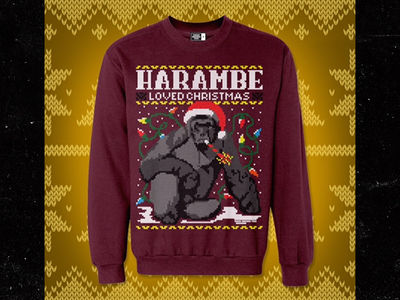 Harambe -- Holiday Sweater Shooting Off Shelves (PHOTO)