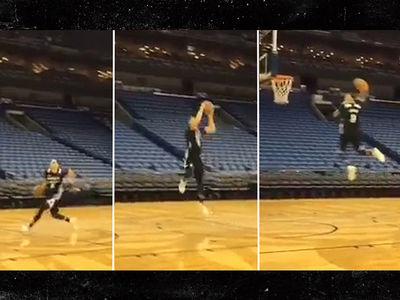 NBA's Zach LaVine -- INSANE 360 DUNK ... From Free Throw Line!!! (VIDEO)