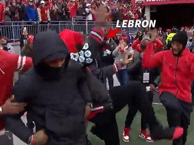 LeBron James -- Teammate Turn Up At OSU v. Michigan Game (VIDEO)