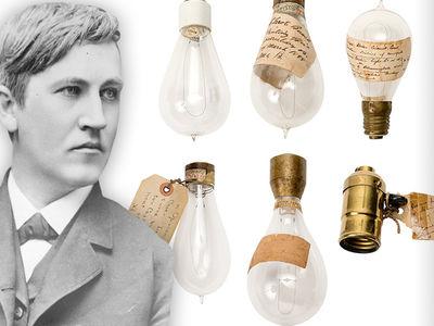 Thomas Edison -- Here's a Bright Idea ... $10k for 5 Light Bulbs! (PHOTO GALLERY)