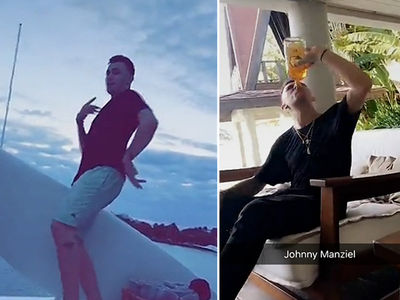 Johnny Manziel -- Chuggin' Fireball at 8AM ... Partying On Yachts (VIDEO)