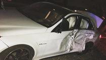 Casper Smart -- Smashes into Tree, Destroys Luxury Whip (PHOTO)