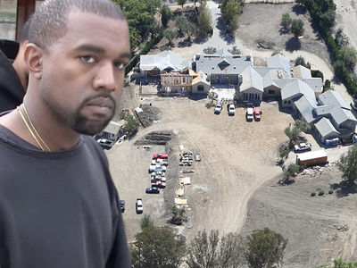 Kanye West Taking Time to Make Mega Mansion Even Bigger (PHOTOS)