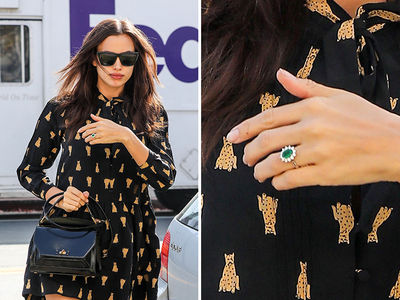 Irina Shayk Flaunting an Engagement-ish Ring (PHOTO)