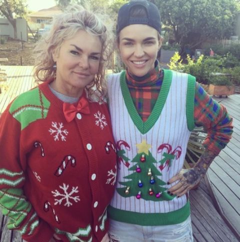 Ruby Rose and her mom