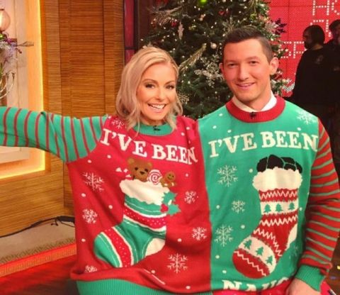 Kelly Ripa and guest host Richard Curtis