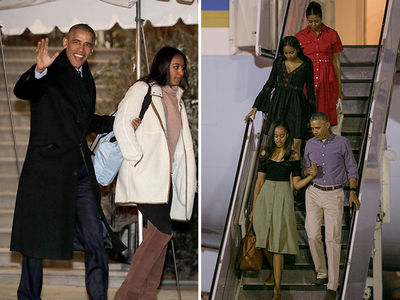 The Obamas Flee D.C. Chill for Sunny Hawaii (PHOTO GALLERY)