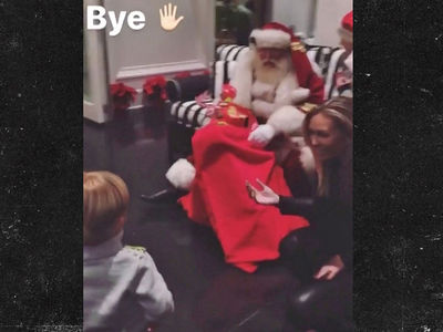 Paulina Gretzky's Son Is Adorably Terrified Of Santa Claus (Cute Video)