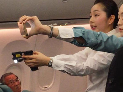 Korean Airline Says Flight Attendant Didn't Fire Taser For Safety, Richard Marx Calls BS