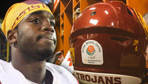 Joe McKnight Honored by USC Players with Rose Bowl Helmet Decal
