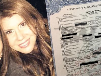 'Bridalplasty' Contestant Lisa Marie Naegle's Death Certificate (DOCUMENT)