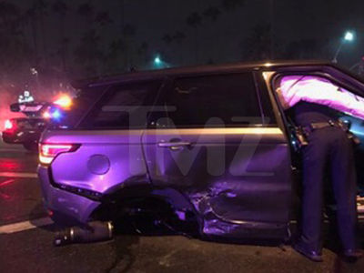 David Spade's Range Rover Crushed in 3 Car Accident (PHOTOS)