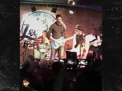 Chris Bosh Jams On Guitar with Blues Legend Buddy Guy (VIDEO)