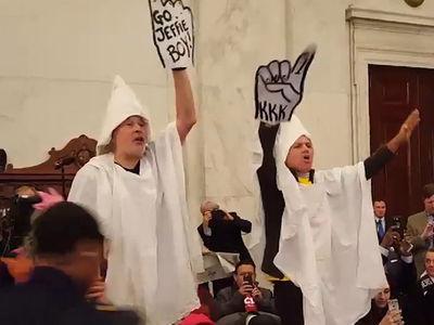 'KKK' Members Mock Jeff Sessions at Senate Hearing (VIDEO)