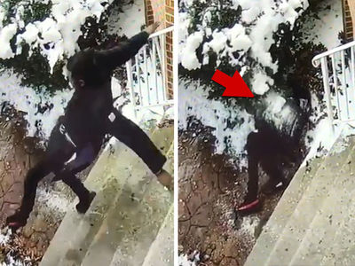 Meek Mill Takes Another L, Slipping HARD On Ice (VIDEO)