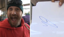 Tom Hardy's Revelation, His Signature Looks Like a Penis!!! (VIDEO)