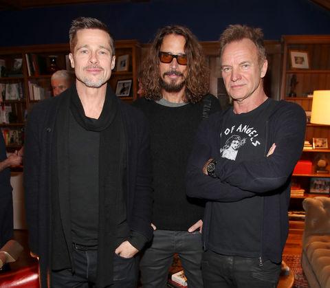 Brad Pitt, Chris Cornell , and Sting