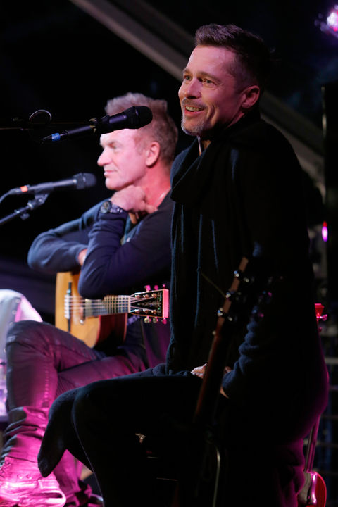 Brad on stage with Sting