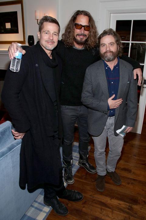 Brad Pitt, Chris Cornell and Zach Galifianakis