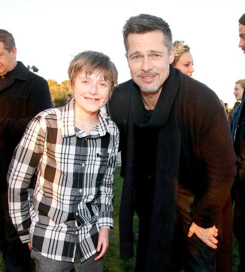 Brandon Joseph and Brad Pitt