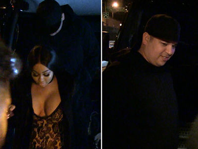 Blac Chyna, Rob Kardashian Mix Chicken Wings and Massages At Strip Club (VIDEOS)