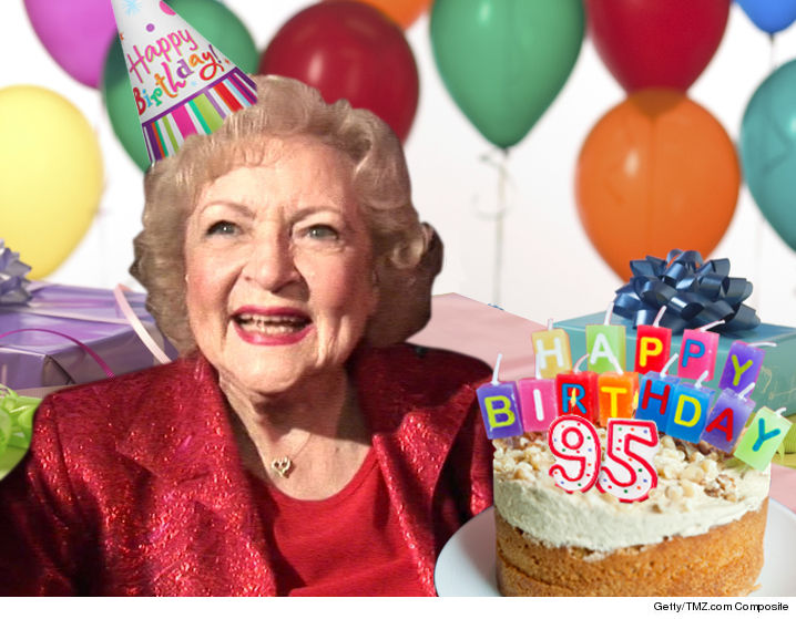 Betty White Celebrates 95th Birthday Working On Set | TMZ.com
