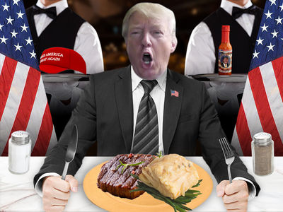 Donald Trump Chairman's Global Dinner Menu Has Fish and Beef (PHOTO)