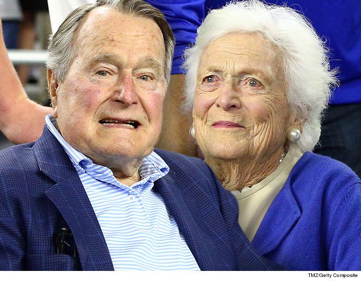 George H W Bush In Icu With Pneumonia Barbara Also Hospitalized