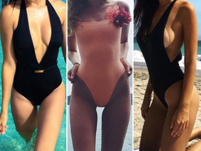 Stars In One-Piece Swimsuits -- Guess Who!