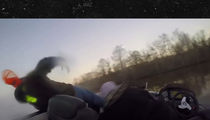 UF Bass Fishing EJECTED FROM BOAT ... Scary Video
